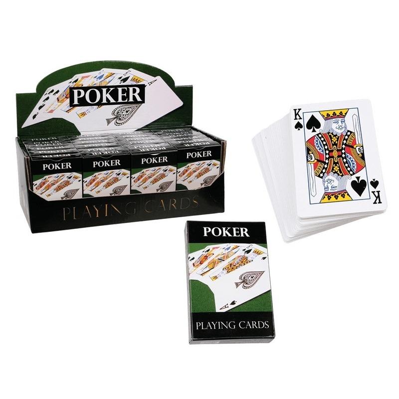 3x pakjes casino spellen poker kaarten setje
