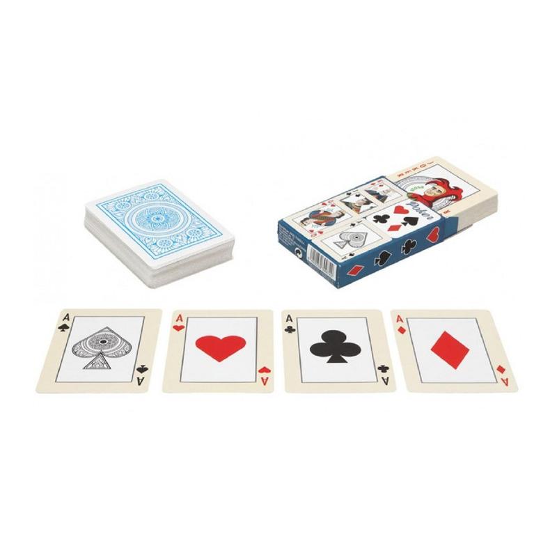 Poker kaartspel speelkaarten 4x pakjes engelstalig