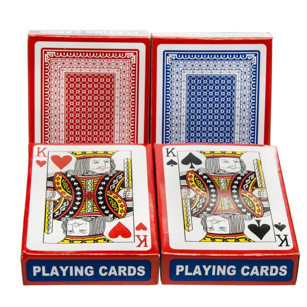 Set van 6x geplastificeerd poker kaartspel speelkaarten